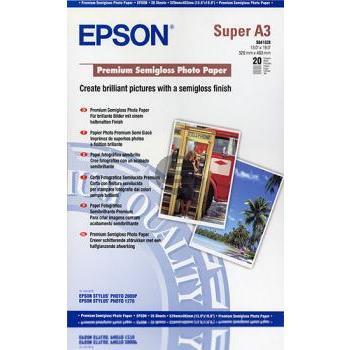 Epson Premium Semigloss Photo Paper DIN A3+ Inkjetpapier weiß DIN A3+ (C13S041328)