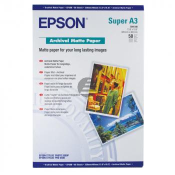 Epson Archival Matte Paper DIN A3+ 100 Seiten weiß (C13S041340)