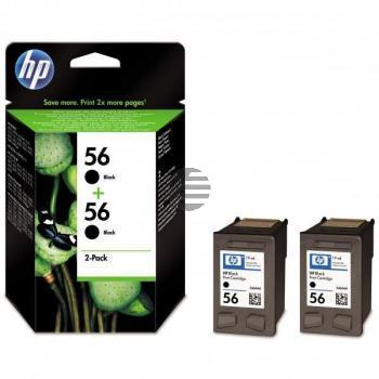 HP Tintendruckkopf 2 x schwarz HC (C9502AE, 2 x 56)