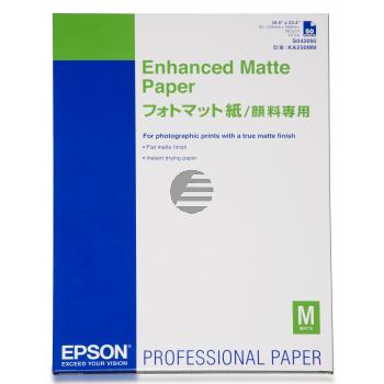 Epson Enhanced Matte Paper weiß DIN A2 (C13S042095)