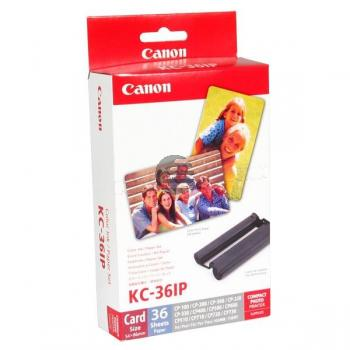 Canon Thermo-Transfer-Rolle Photo Paper 54x86mm weiß farbig 36 Blatt (7739A001, KC-36IP)