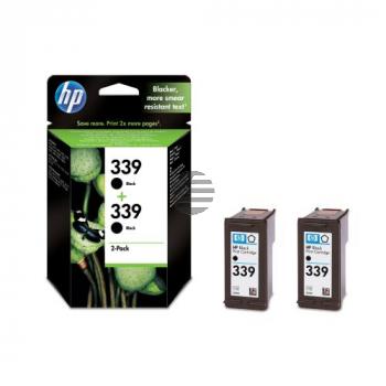 HP Tinte 2x schwarz HC (C9504EE, 2x 339)