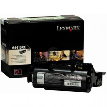 Lexmark Toner-Kartusche Prebate schwarz HC plus (64416XE)