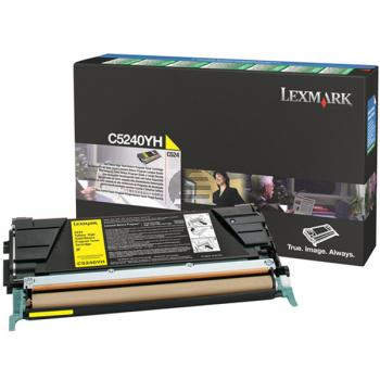 Lexmark Toner-Kartusche Prebate gelb HC (C5240YH)