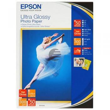 Epson Ultra Glossy Photopapier weiß 13 x 18 cm (C13S041944)