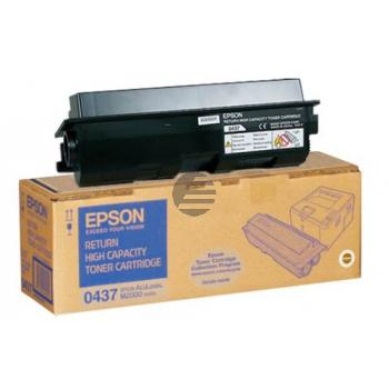 Epson Toner-Kartusche Return schwarz HC (C13S050437, 0437)