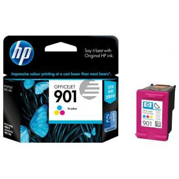 HP Tintenpatrone cyan/gelb/magenta (CC656AE, 901)