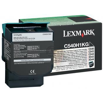 Lexmark Toner-Kartusche Prebate schwarz HC (C540H1KG)