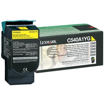 Lexmark Toner-Kartusche Prebate gelb (C540A1YG)