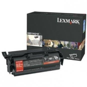 Lexmark Toner-Kartusche schwarz HC (X651H21E)
