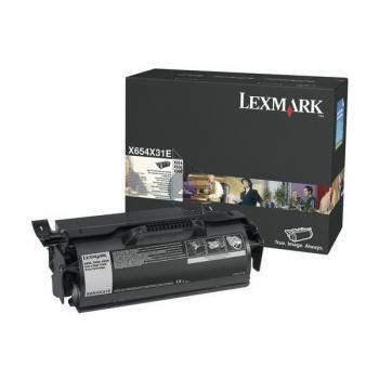 Lexmark Toner-Kartusche Corporate schwarz HC plus (X654X31E)