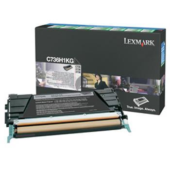 Lexmark Toner-Kartusche Prebate schwarz HC (C736H1KG)