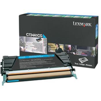 Lexmark Toner-Kartusche Prebate cyan (C734A1CG)