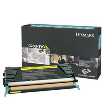 Lexmark Toner-Kartusche Prebate gelb HC (C736H1YG)