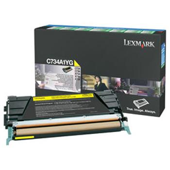 Lexmark Toner-Kartusche Prebate gelb (C734A1YG)