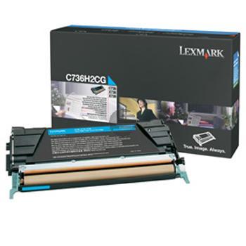 Lexmark Toner-Kartusche cyan HC (C736H2CG)