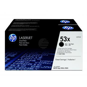 HP Toner-Kartusche 2x schwarz HC (Q7553XD, 53XD)