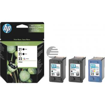 HP Tintendruckkopf Cyan/gelb/Magenta 2x schwarz (SD400AE, 2x 21 22)