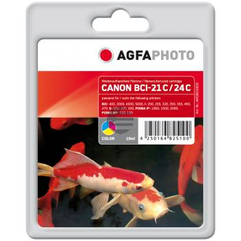Agfaphoto Tintenpatrone cyan/gelb/magenta (APCBCI24CD)