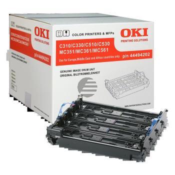 OKI Fotoleitertrommel gelb Cyan Magenta schwarz (44494202)