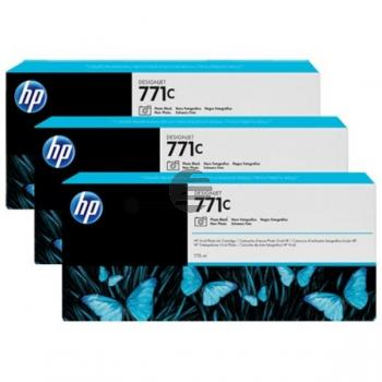 HP Tinte photo schwarz 3er Pack (CR256A, 3 x 771C)