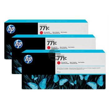 HP Tintenpatrone chromatic rot 3er Pack (CR251A, 771C)