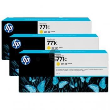 HP Tintenpatrone gelb 3er Pack (CR253A, 3 x 771C)