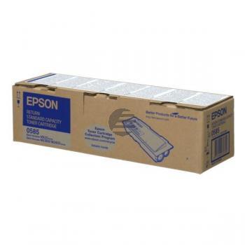 Epson Toner-Kit Return schwarz (C13S050585, 0585)