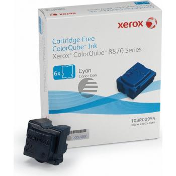 Xerox ColorStix 6x cyan 6-er Pack (108R00954)