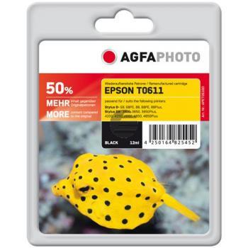 Agfaphoto Tintenpatrone schwarz (APET061BD) ersetzt C13T06114010 / T0611