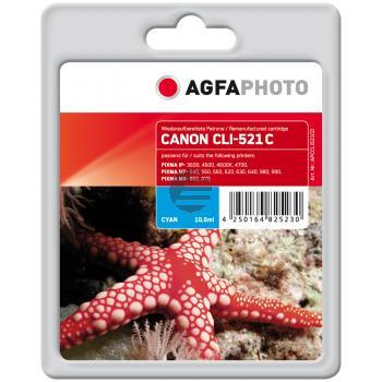 Agfaphoto Tintenpatrone cyan (APCCLI521CD)