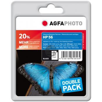 Agfaphoto Tintendruckkopf schwarz HC (APHP56DUO)