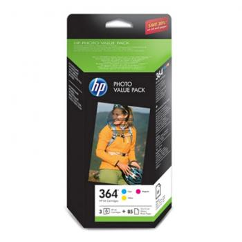 HP Tinte Photo Paper 100x150mm gelb Cyan Magenta (CH082EE, 364)