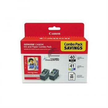 Canon Tintendruckkopf Photo Paper 100x150mm cyan/gelb/magenta schwarz (0615B009, CL-41 PG-40)