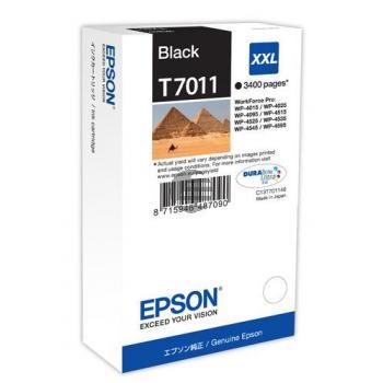 Epson Tintenpatrone schwarz HC plus (C13T70114010, T7011)