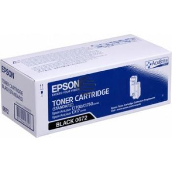 Epson Toner-Kartusche schwarz (C13S050672, 0672)