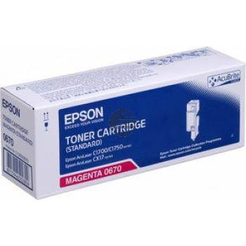 Epson Toner-Kartusche magenta (C13S050670, 0670)