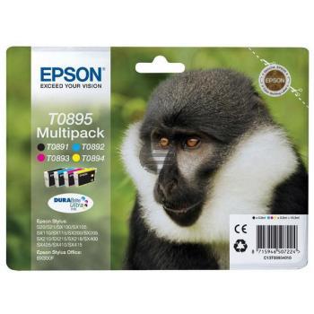 Epson Tinte gelb Cyan Magenta schwarz (C13T08954010, T0895)