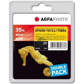 Agfaphoto Tintenpatrone 2 x schwarz (APET071_T089BDUOD) ersetzt C13T07114H20 / T0711H