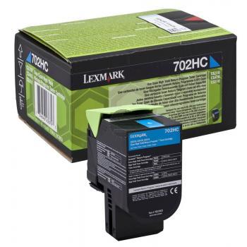Lexmark Toner-Kit Return cyan HC (70C2HC0, 702HC)