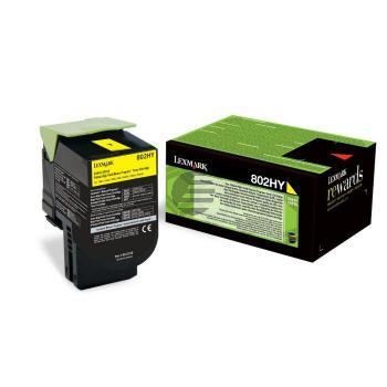 Lexmark Toner-Kit Return gelb HC plus (80C2HY0, 802HY)