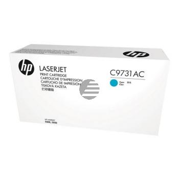 HP Toner-Kartusche Contract cyan (C9731AC, 645AC)