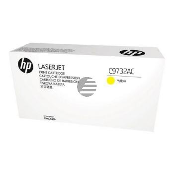 HP Toner-Cartouche Contract geel (C9732AC, 645AC)