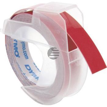 Dymo Prägeband weiß/rot (524702)
