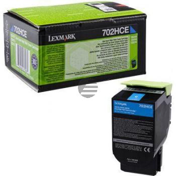Lexmark Toner-Kit Corporate cyan HC (70C2HCE, 702HCE)