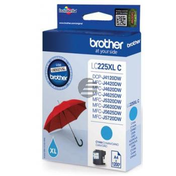 Brother Tinte Cyan HC (LC-225XLC)