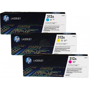 HP Toner-Kartusche gelb cyan magenta 3er Pack (CF440AM, 3 x 312A)