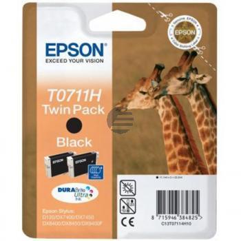Epson Tinte 2 x schwarz (C13T07114H10, T0711H)