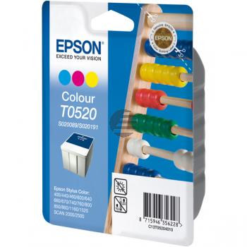 Epson Tinte Cyan/gelb/Magenta (C13T05204020, T0520)
