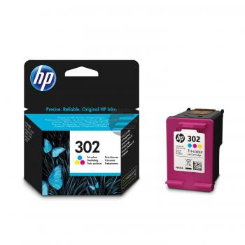 HP Tintendruckkopf cyan/gelb/magenta (F6U65AE#301, 302)